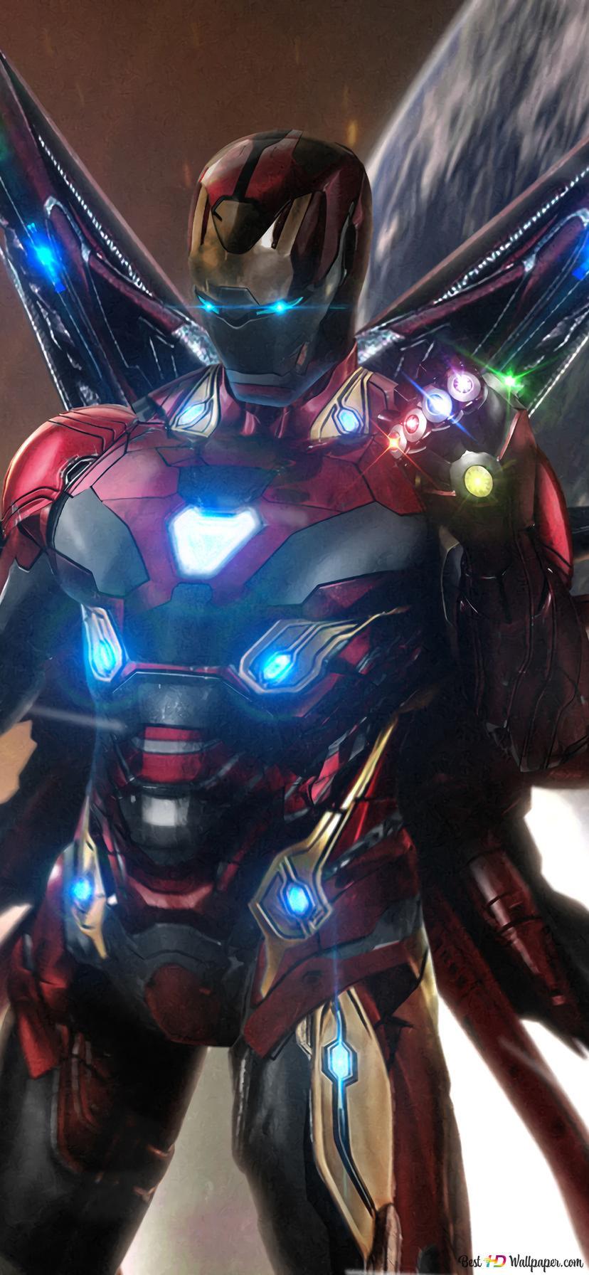 Avengers Endgame Iron Man Infinity Stones Unduhan Wallpaper Hd