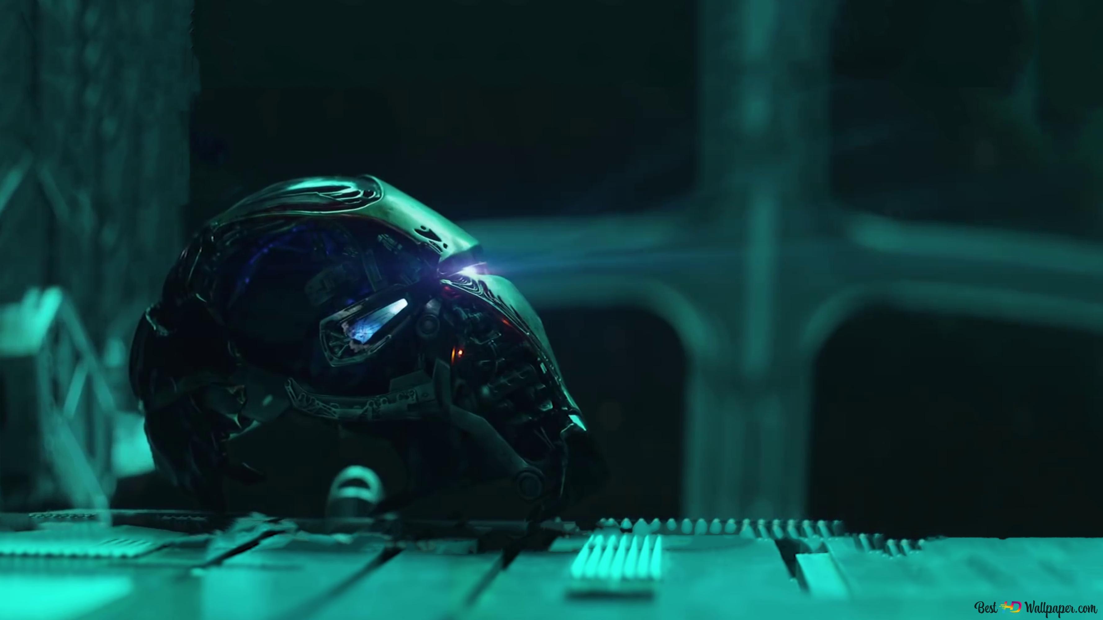 Avengers Endgame Iron Man Rotto Casco Download Di Sfondi Hd