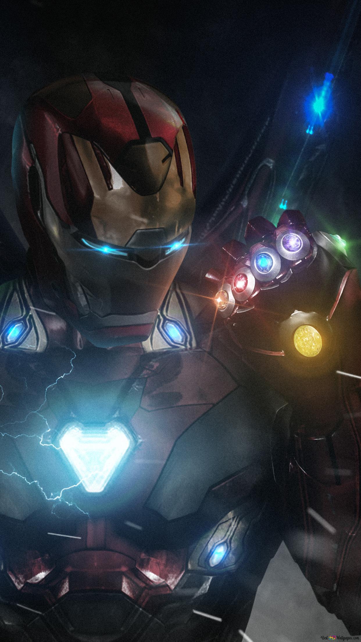 Avengers Endgame Ironman With Infinity Gauntlet Hd Wallpaper Download