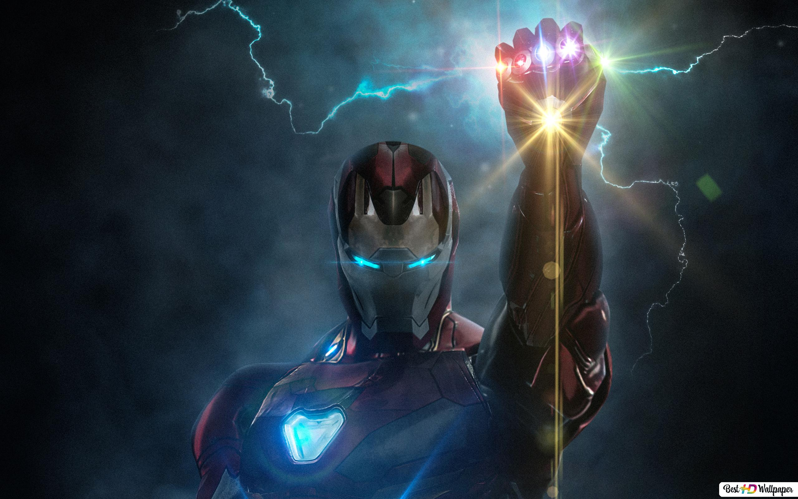 Avengers: Endgame - Ironman with infinity glove HD wallpaper download