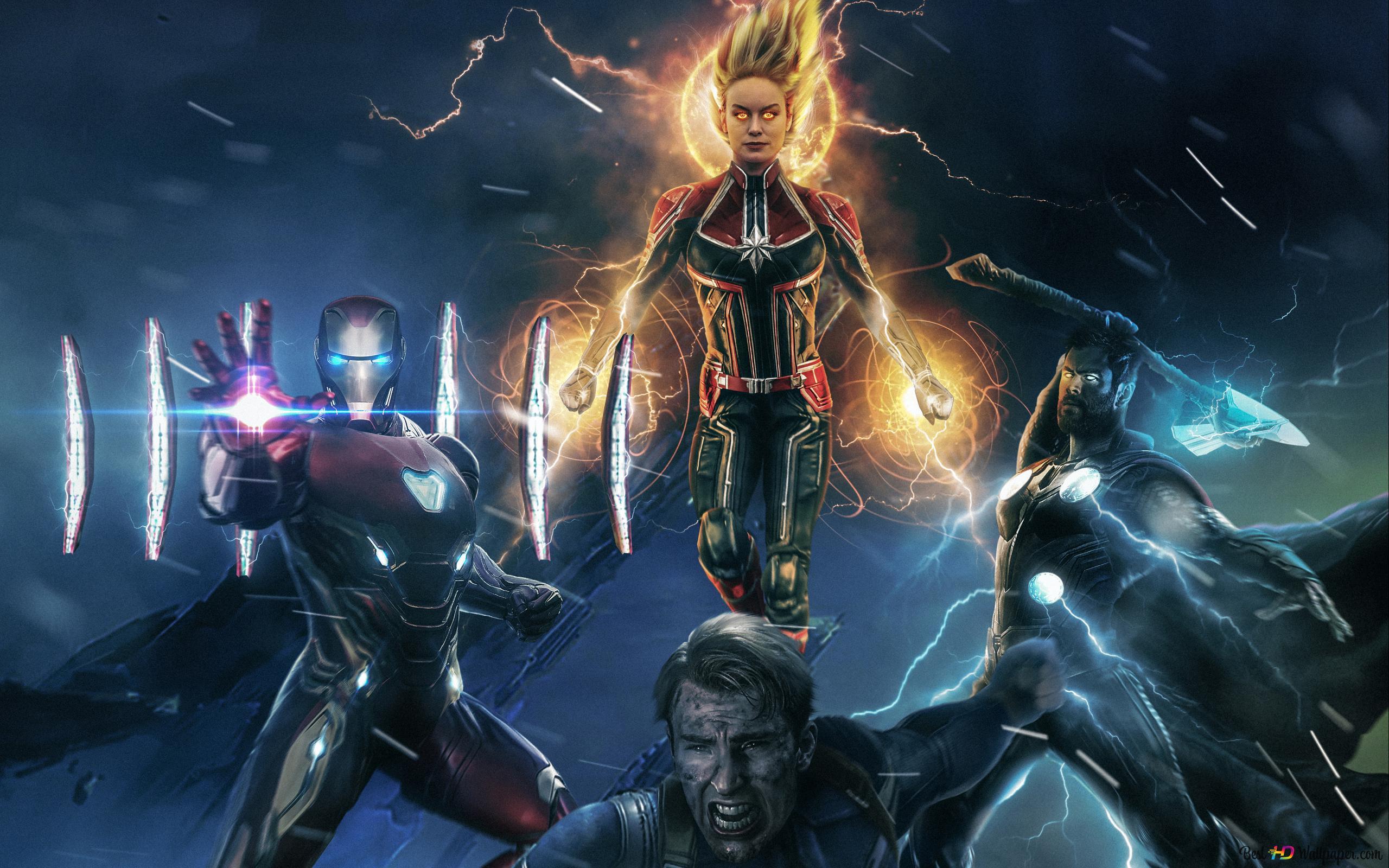 Avengers Endgame Powerful Superheroes Hd Wallpaper Download