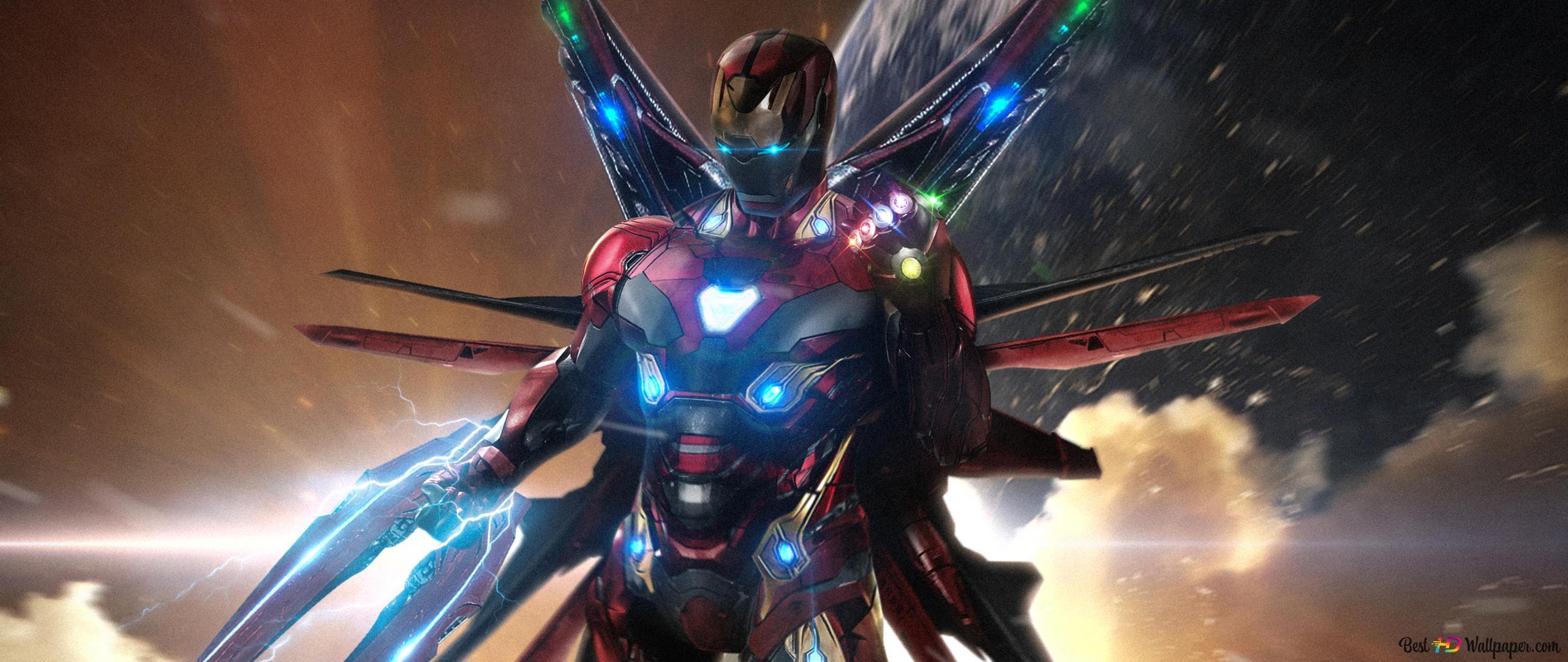 Avengers Endgame Superhero Ironman With Infinity