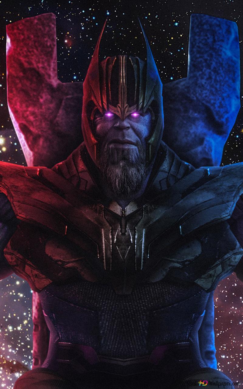 Avengers: Endgame Thanos avec gant Infinity HD fond d