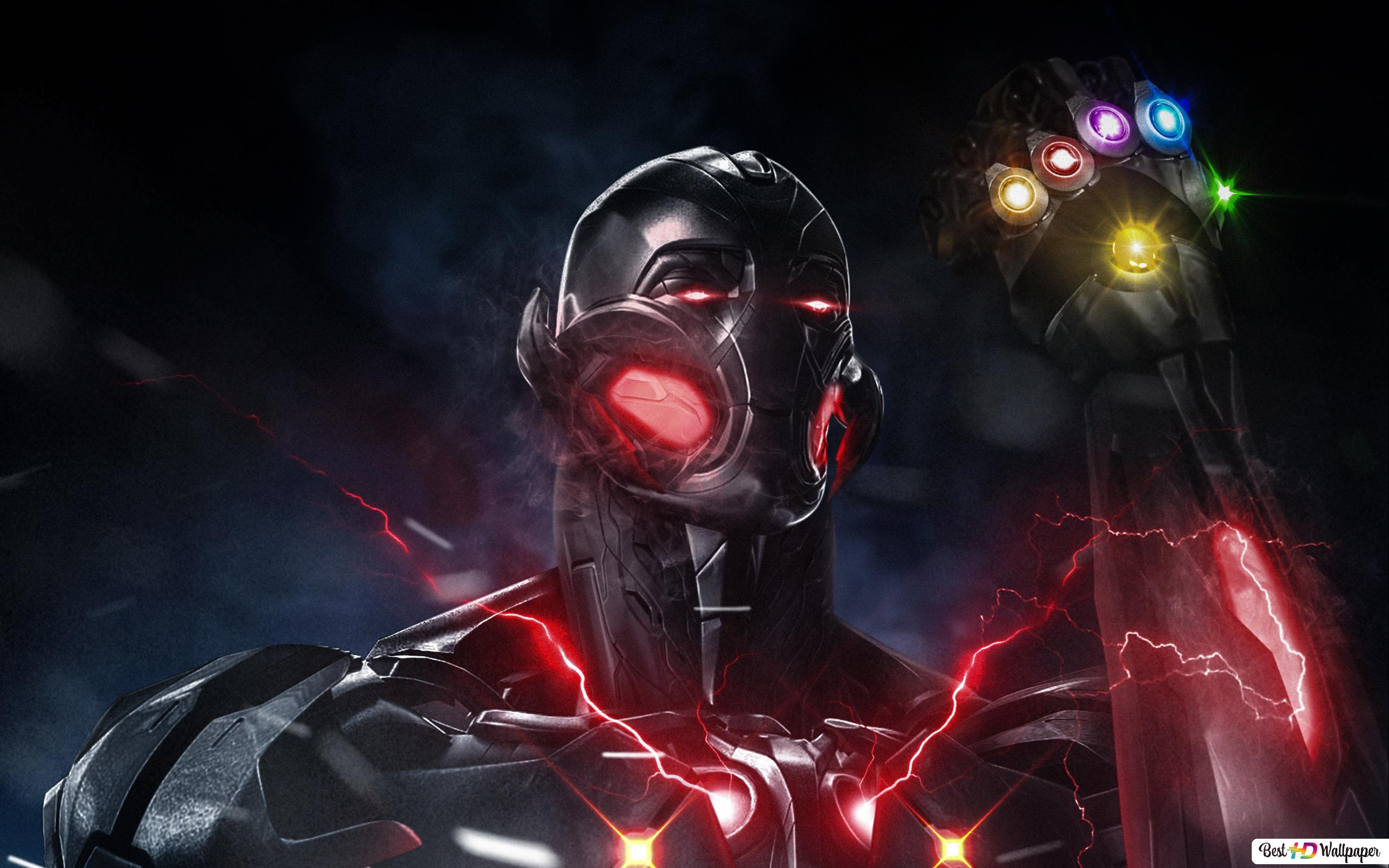 Avengers Endgame Ultron With Infinity Gauntlet Hd Wallpaper