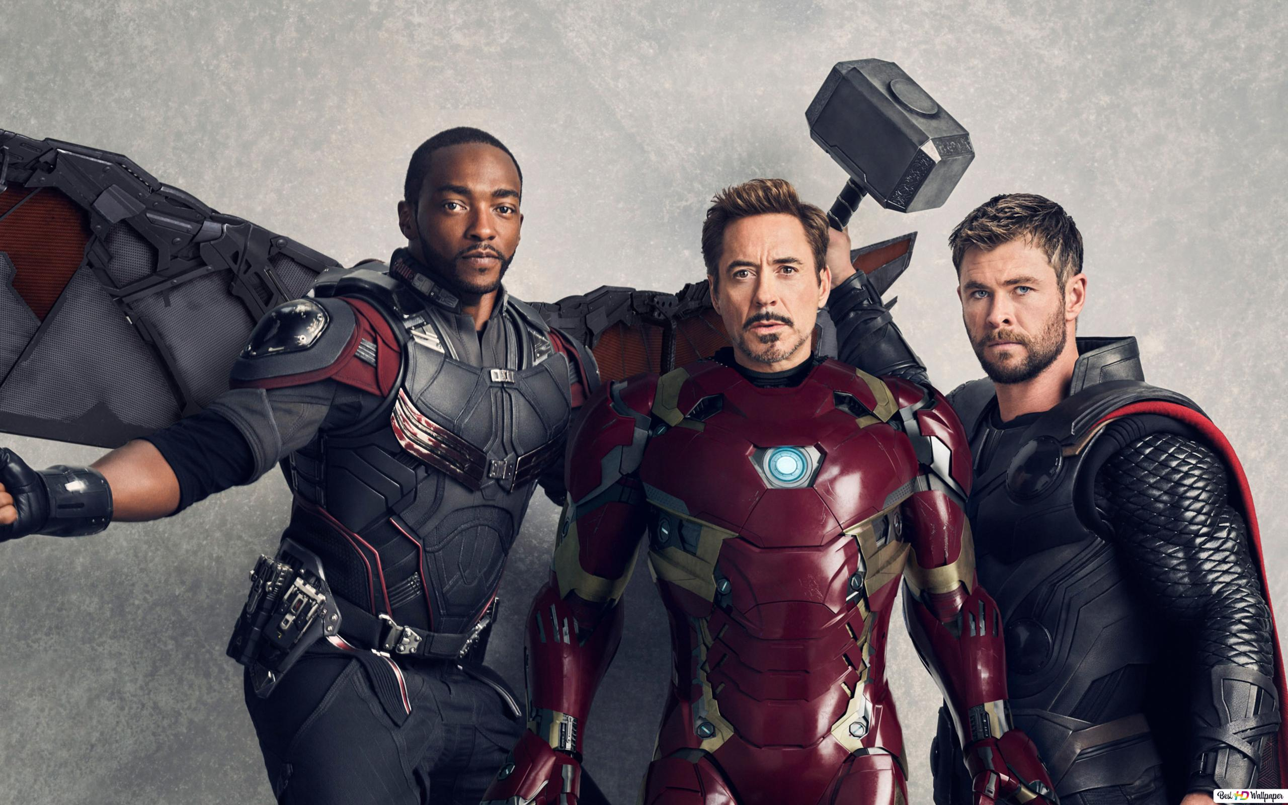 Avengers Falcon Tony And Thor Hd Wallpaper Download