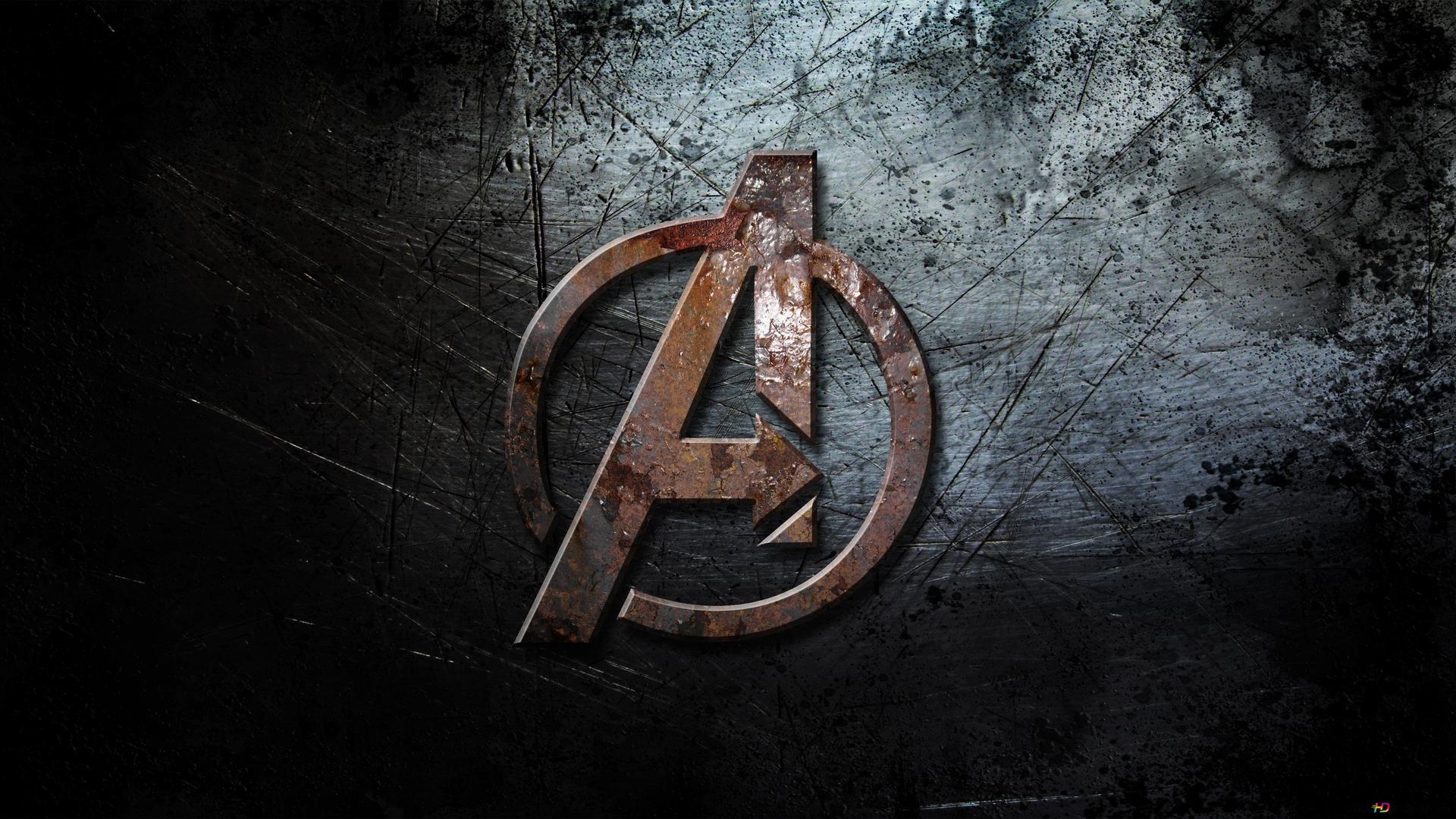 avengers infinity war a logo on grunge background hd wallpaper
