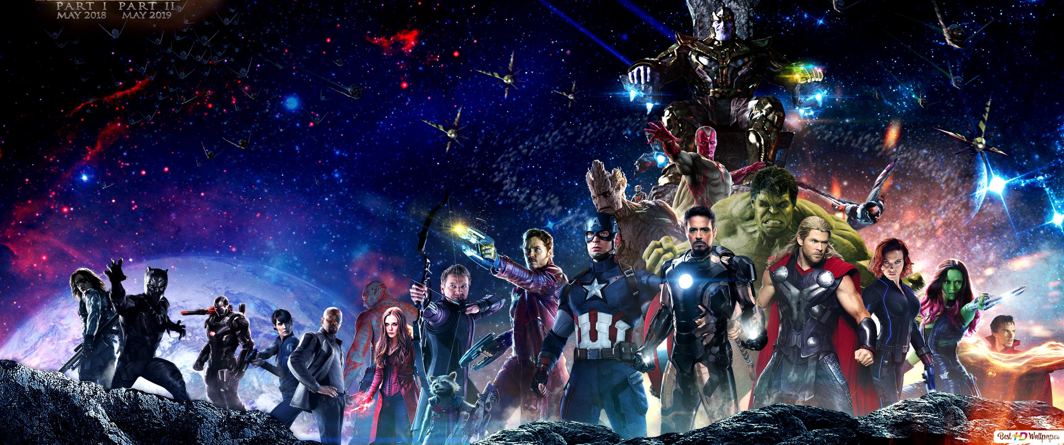 Avengers Infinity War S Heroes And Villains Hd Wallpaper