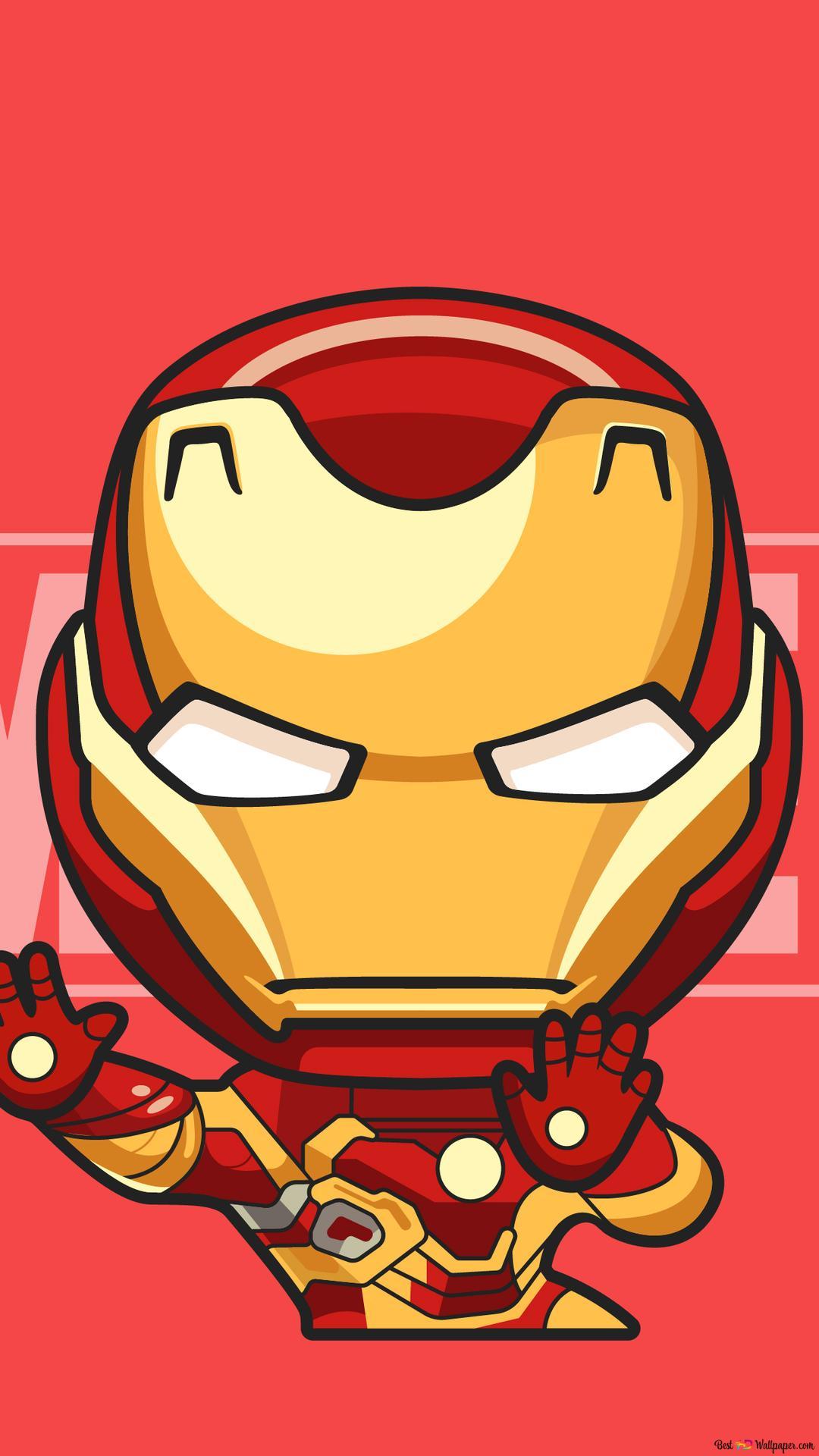 Avengers Iron Man Chibi Hd Hintergrundbilder Herunterladen