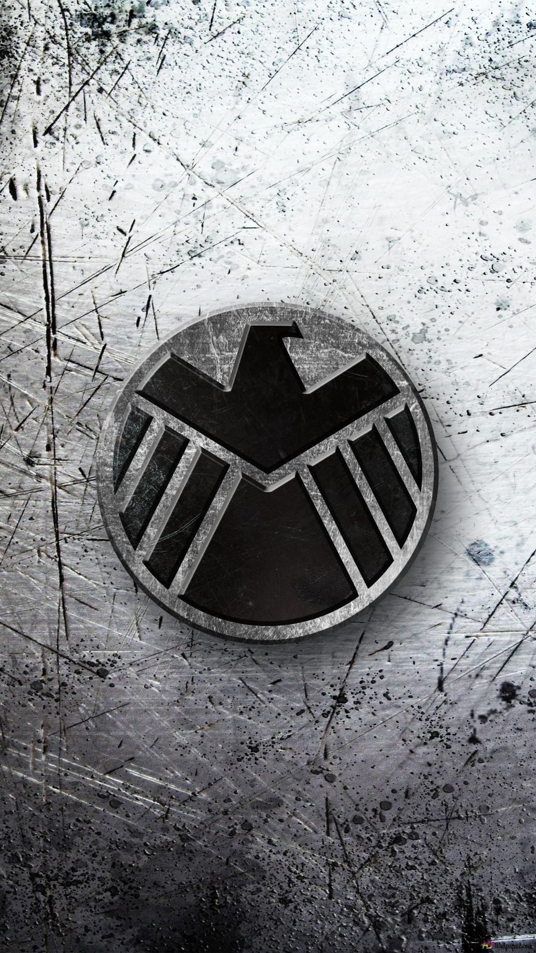 Avengers Logo On Grunge Metallic Background Hd Wallpaper Download