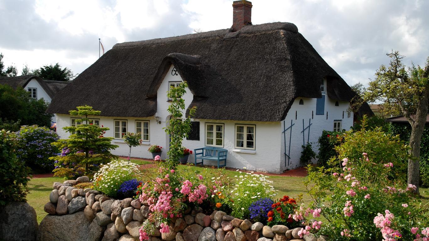 Bahçe Ile Güzel Ev Hd Duvar Kağıdı Indir