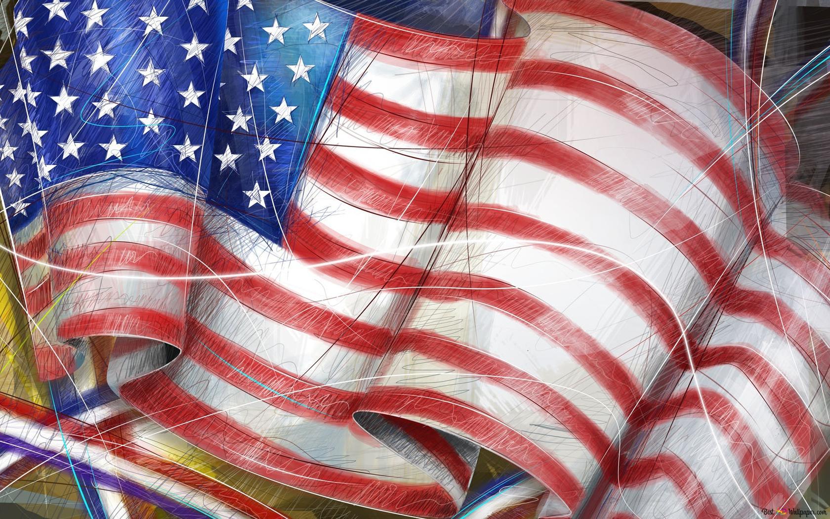 Descargar Fondo De Pantalla Bandera Estadounidense Hd