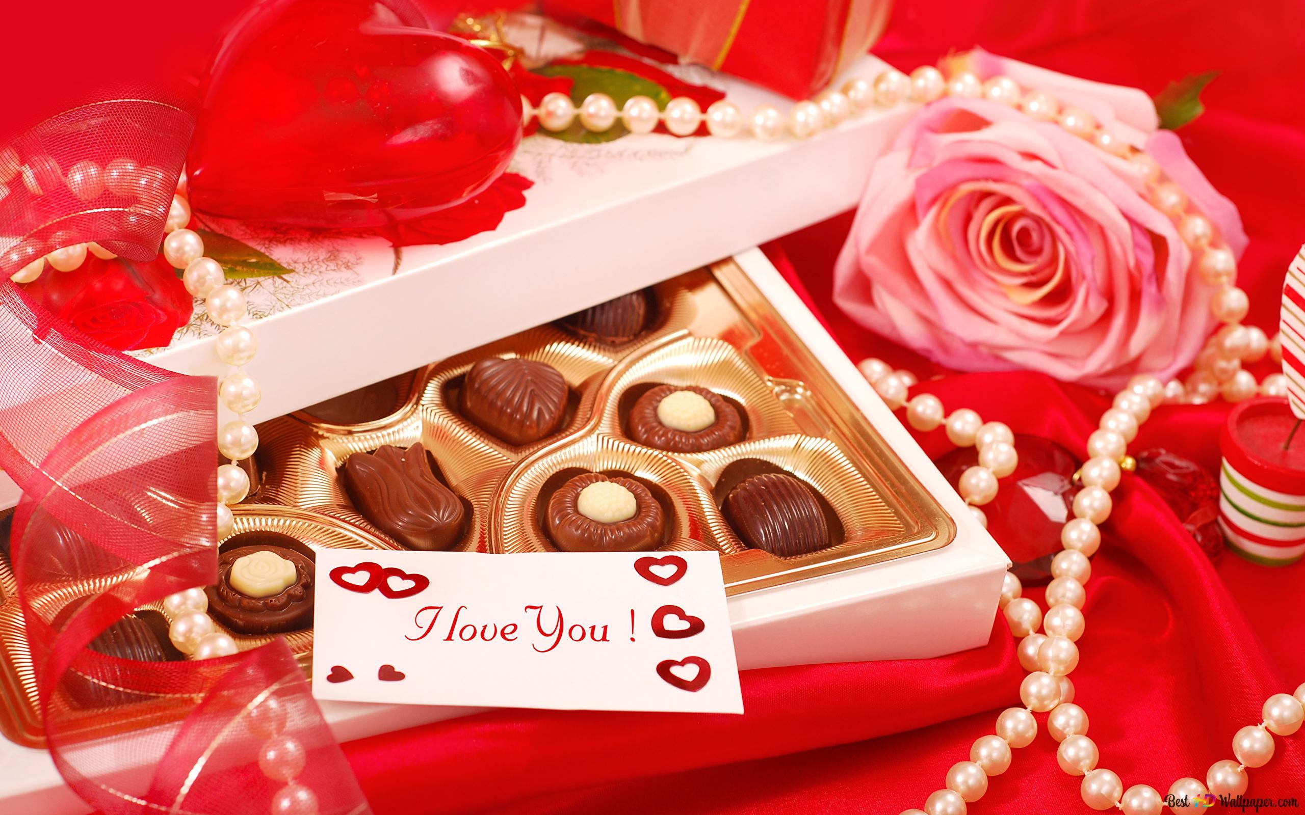 バレンタインデー 愛ノートとチョコレート Hd壁紙のダウンロード