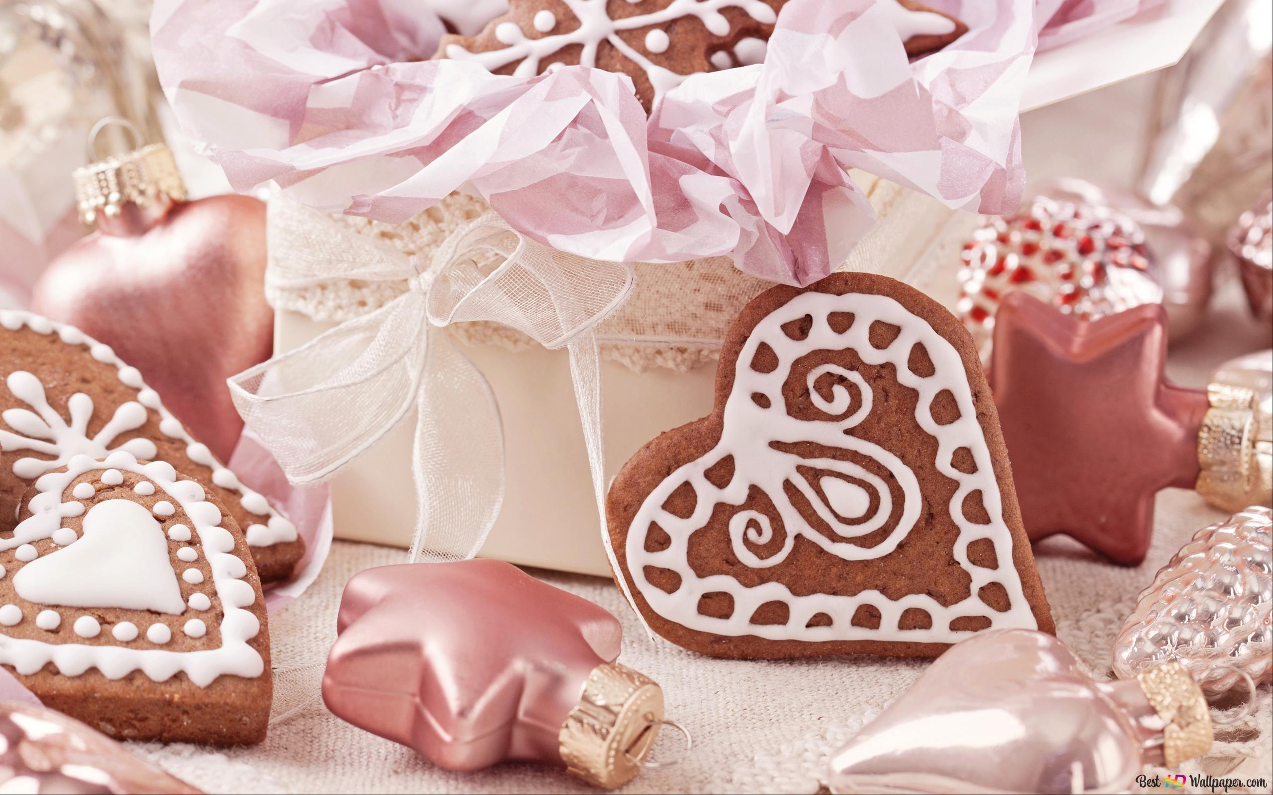 バレンタインデー ギフトやハートのクッキー Hd壁紙のダウンロード