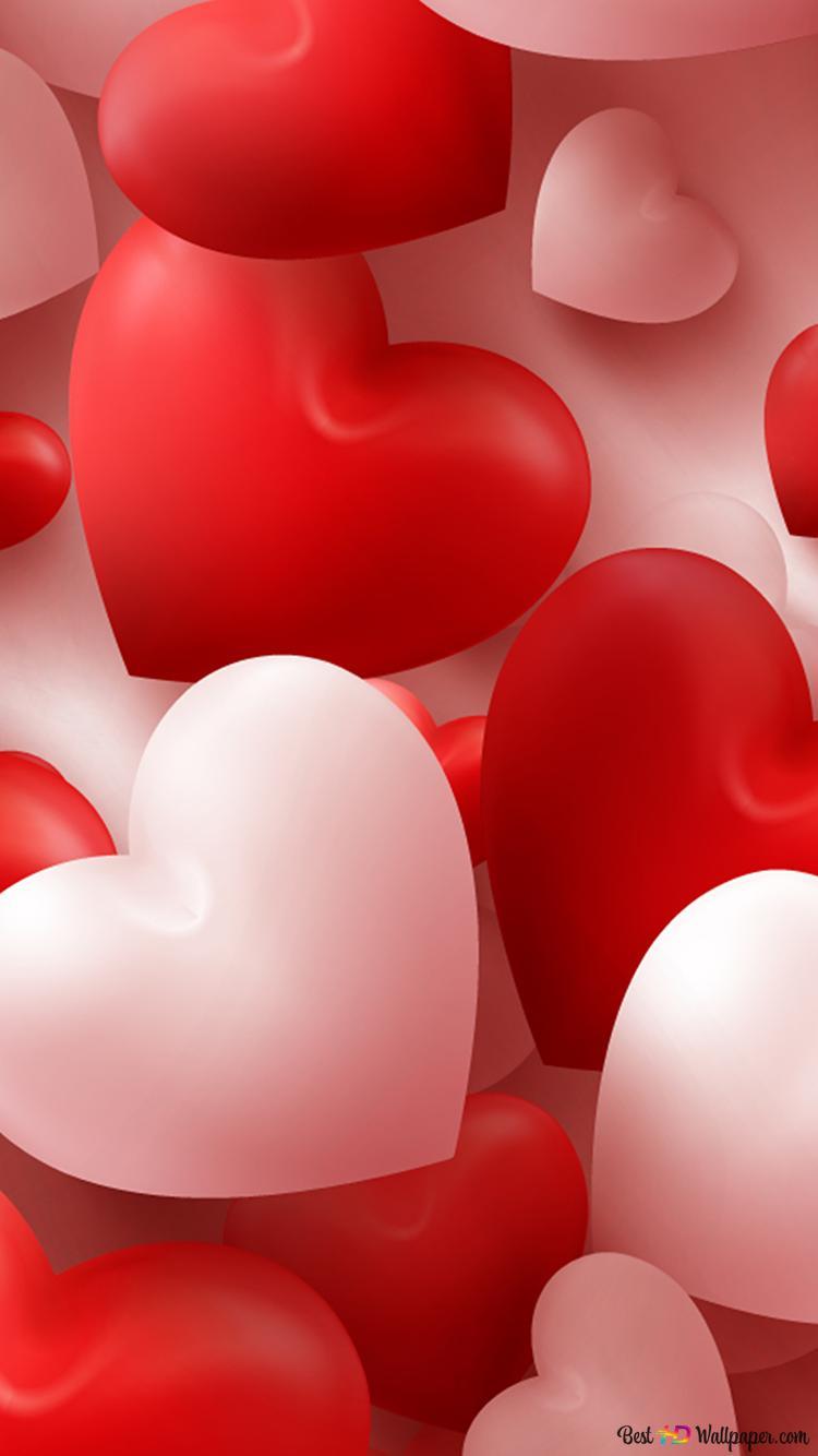 バレンタインデー かわいいハートの風船 Hd壁紙のダウンロード