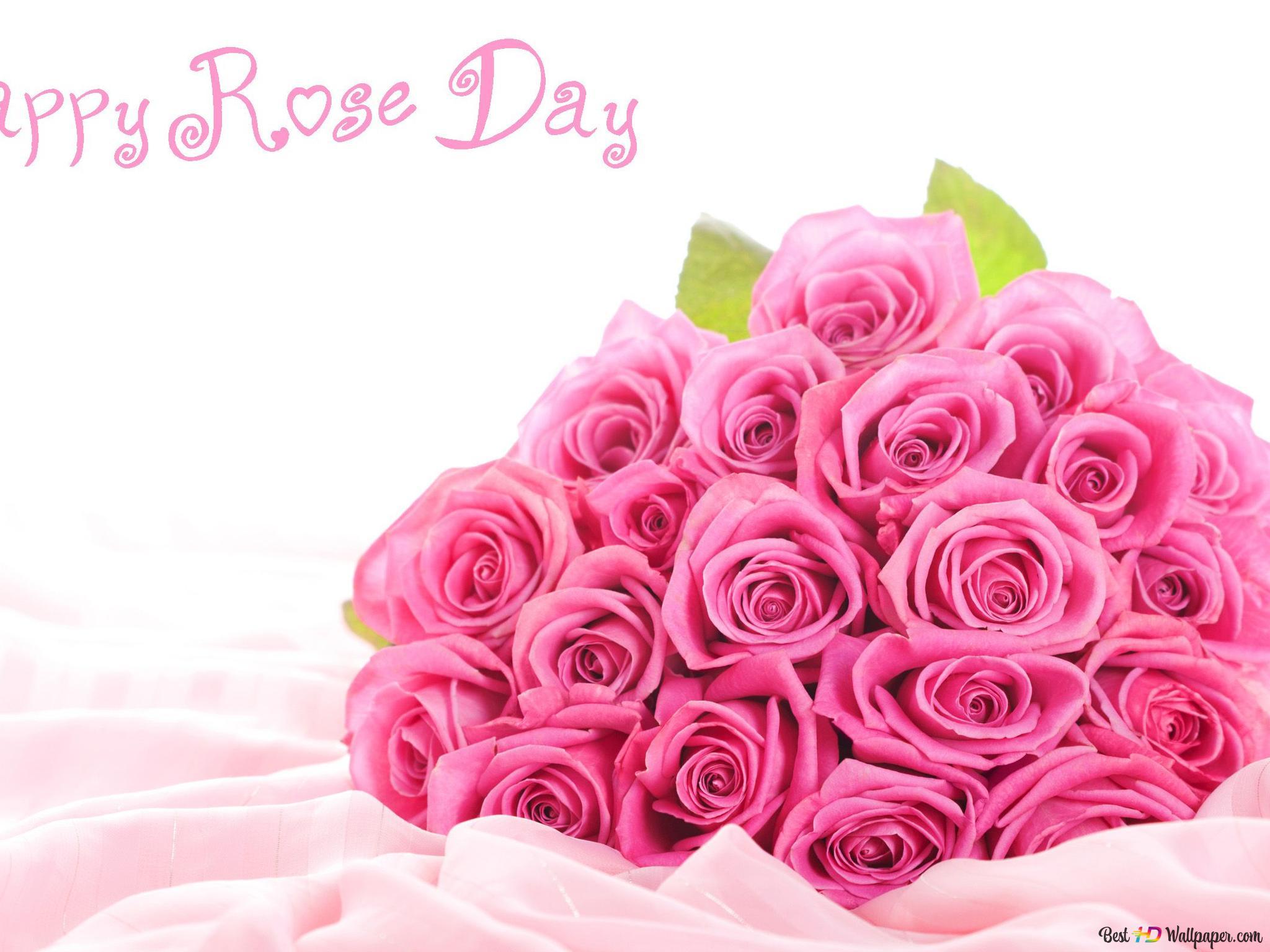 バレンタインデー ピンクの花束をバラ Hd壁紙のダウンロード