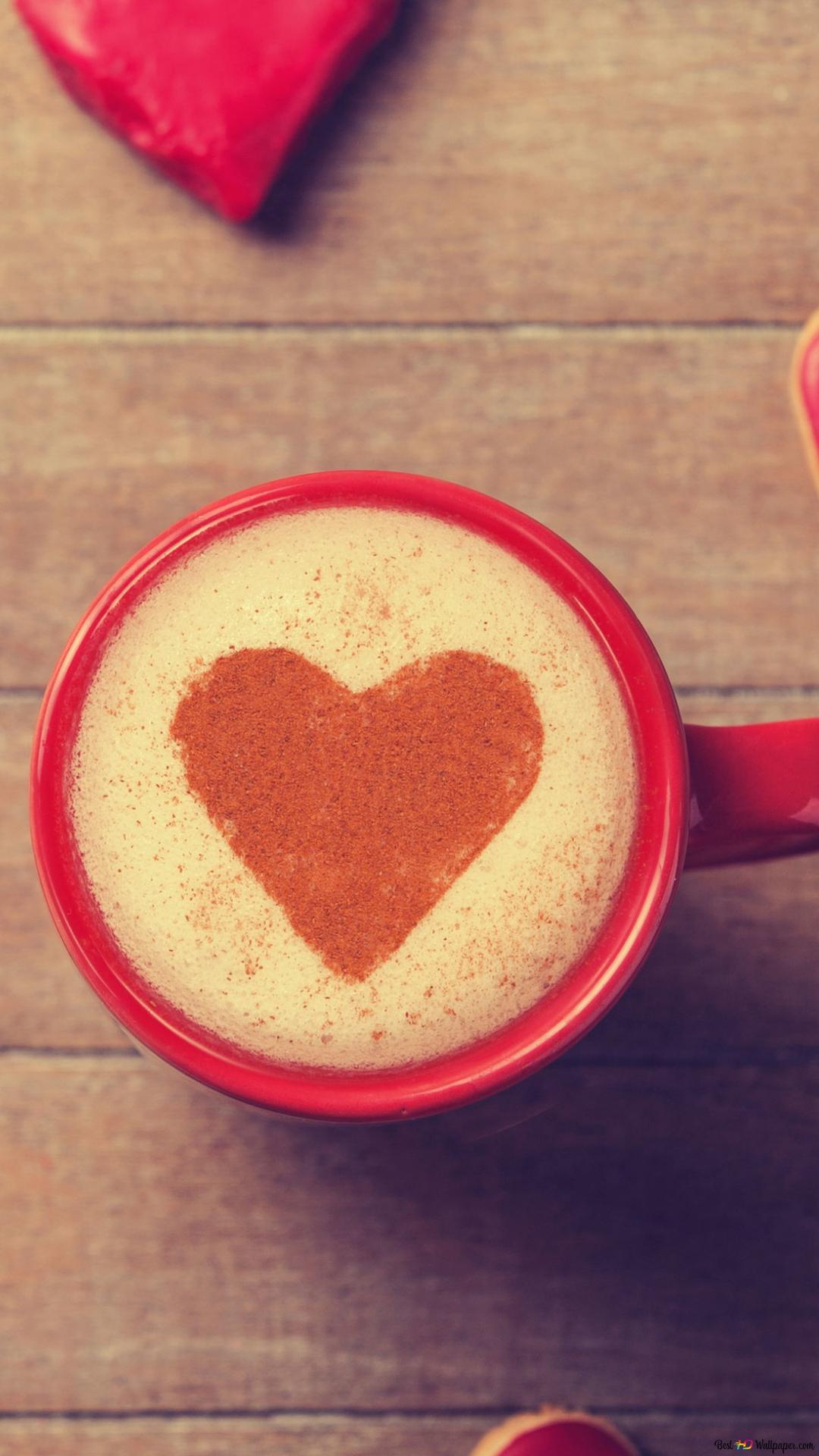 バレンタインの日 心とコーヒー Hd壁紙のダウンロード