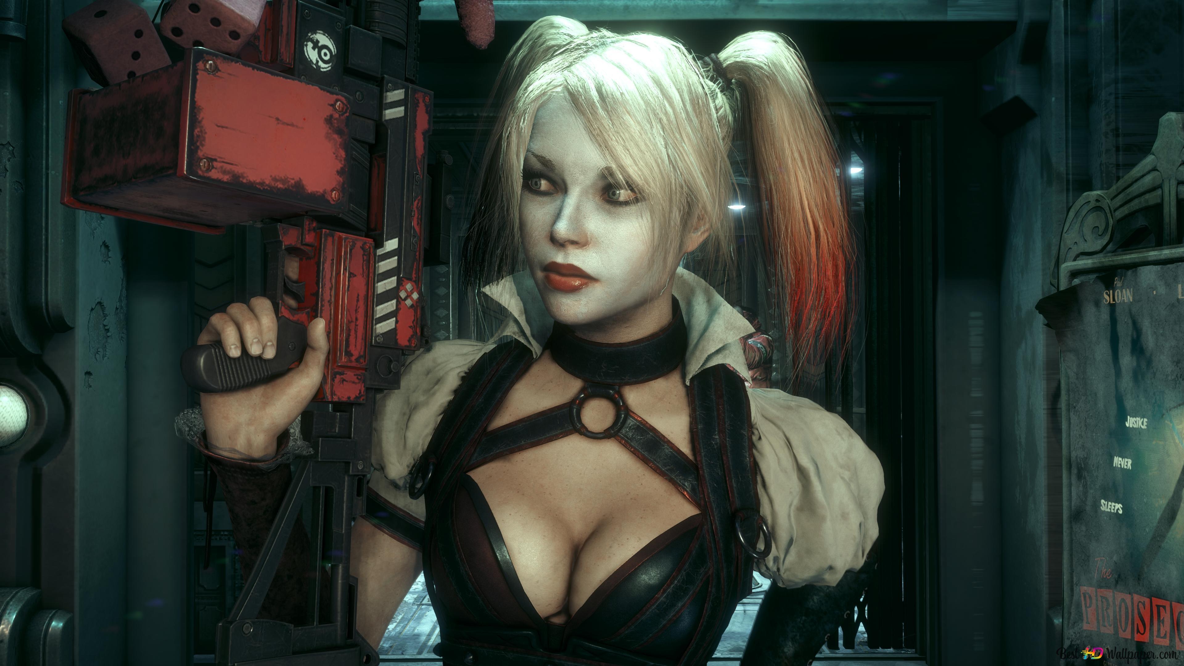Batman Arkham Knight Harley Quinn Hd Wallpaper Download