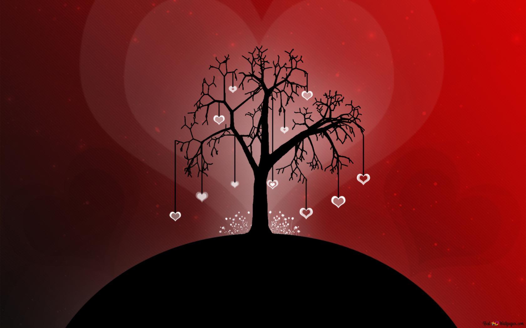 Baum Der Liebe Hd Hintergrundbilder Herunterladen
