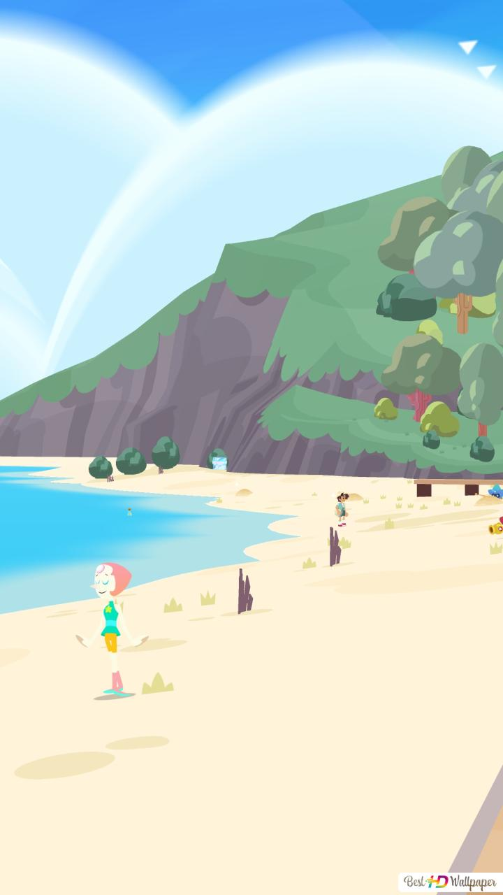 Beach Front Steven Universe Save The Light Hd Wallpaper