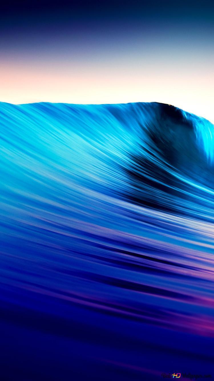 Beautiful Blue Waves In The Ocean Hd Wallpaper Download