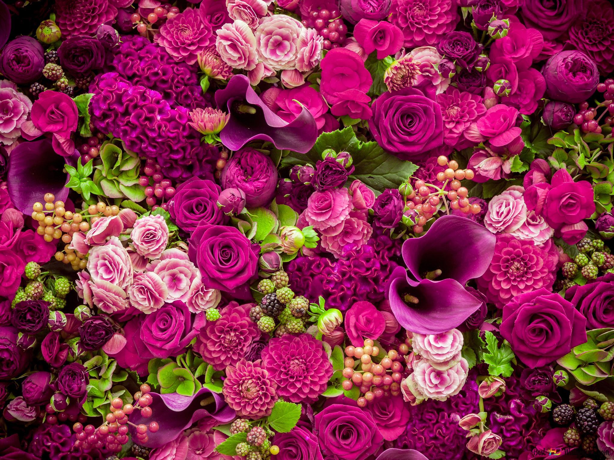 Fiori Wallpaper.Bella Fiori Rosa Mazzo Download Di Sfondi Hd