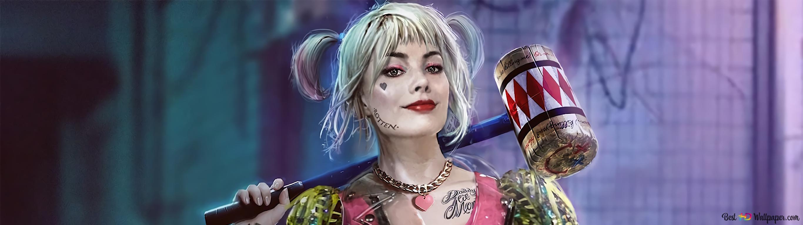 Birds Of Prey Harley Quinn Hammer Hd Wallpaper Download