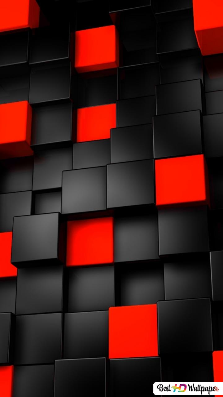 Black And Red Cubes Hd Wallpaper Download