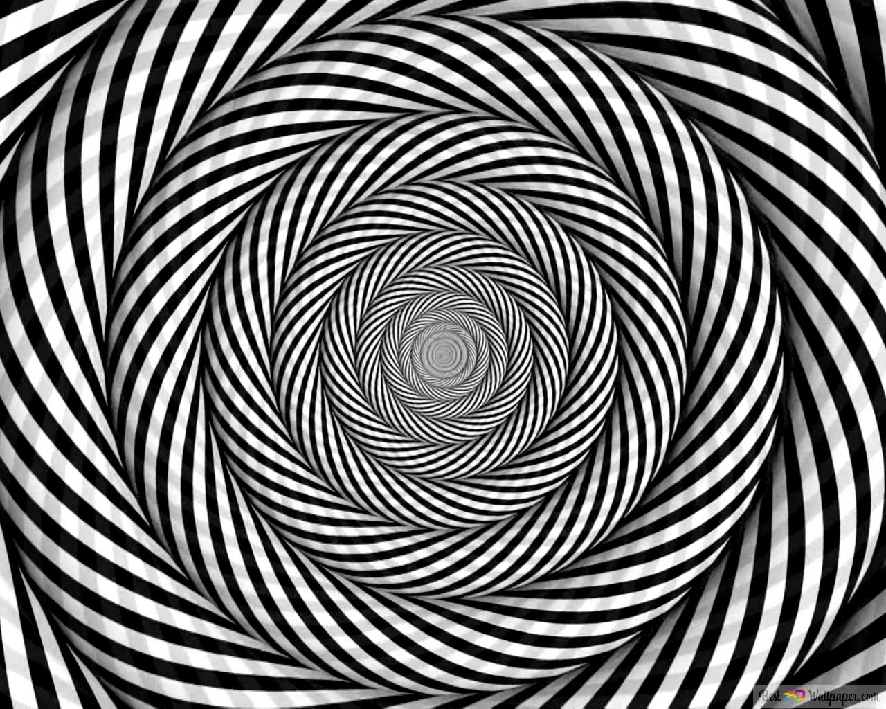 Black And White Optical Illusion Hd Wallpaper Download