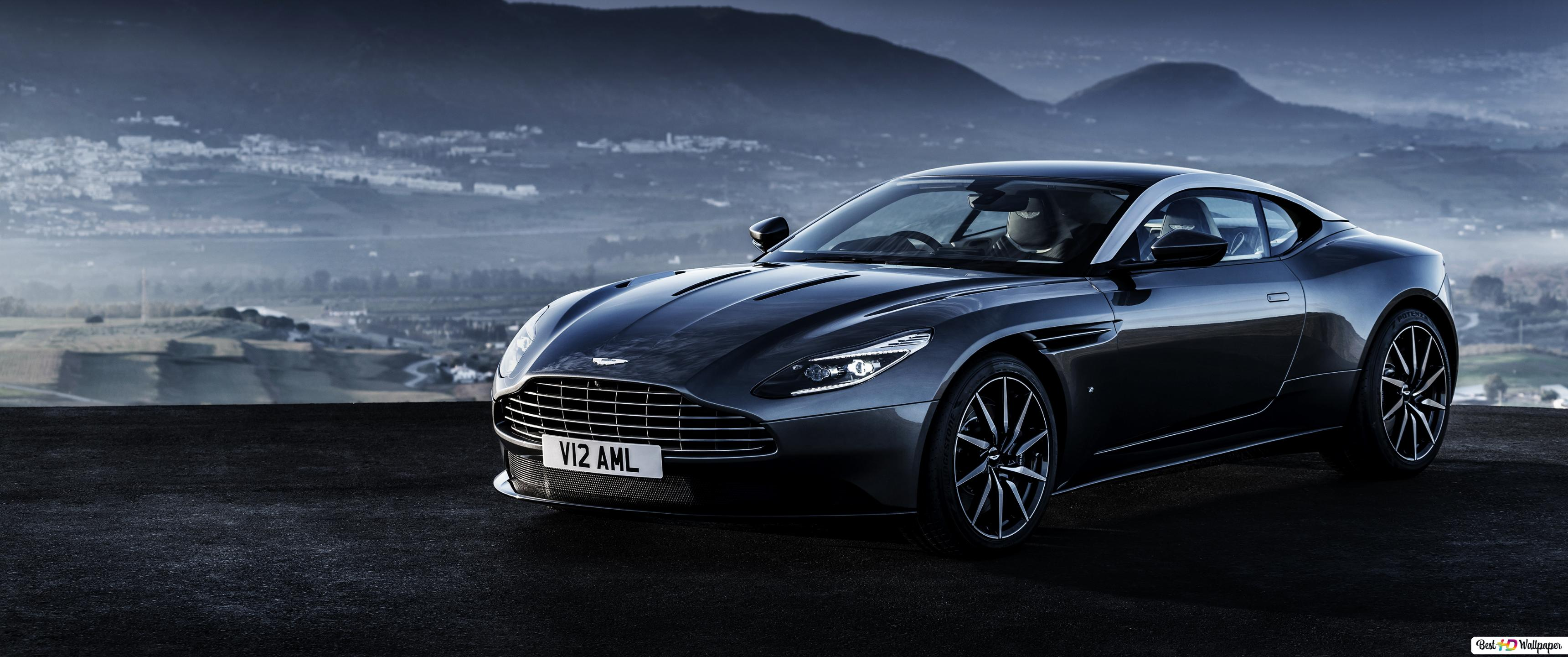 Black Aston Martin Db11 With Mountains As Background Hd Wallpaper Download
