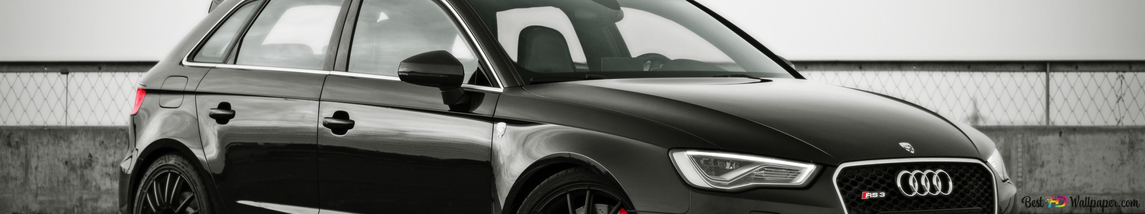 Black Audi Rs3 Sport Car Hd Wallpaper Download