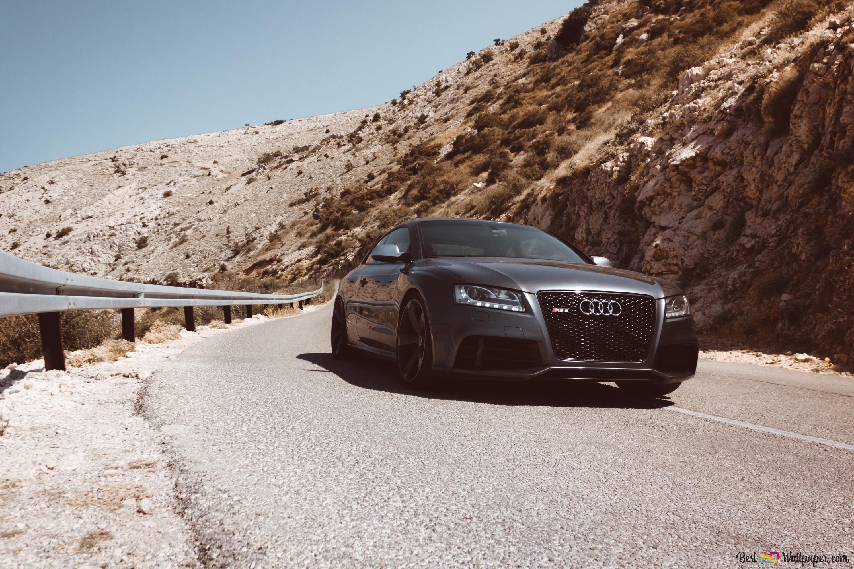 Black Audi Rs5 Car Passes On Asphalt Road Hd Wallpaper Download