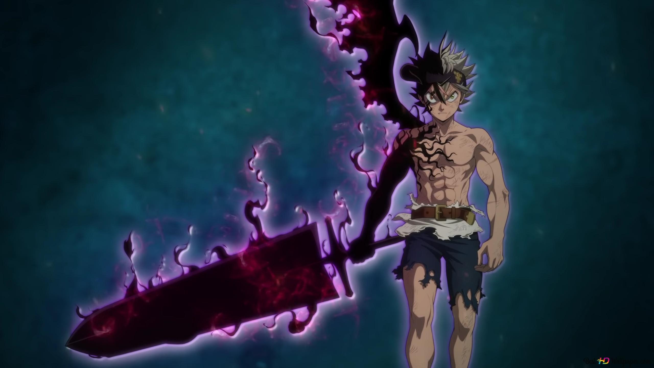 Black Clover Asta Demon Sword Hd Wallpaper Download