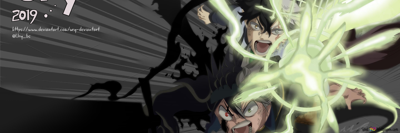 Black Clover - Asta & Yuno Vs Devil HD wallpaper download