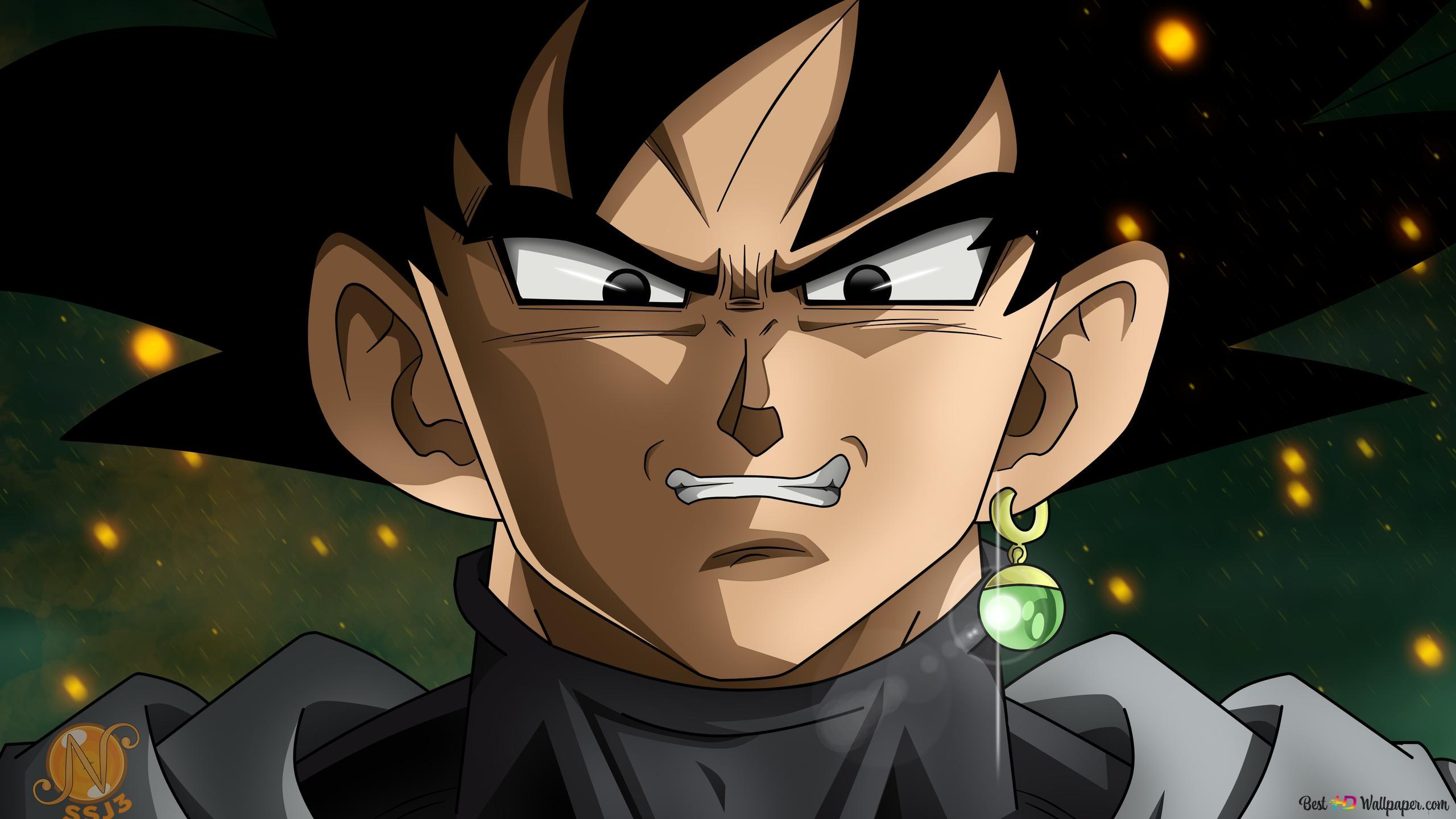 Black Goku Evil Smile Hd Wallpaper Download
