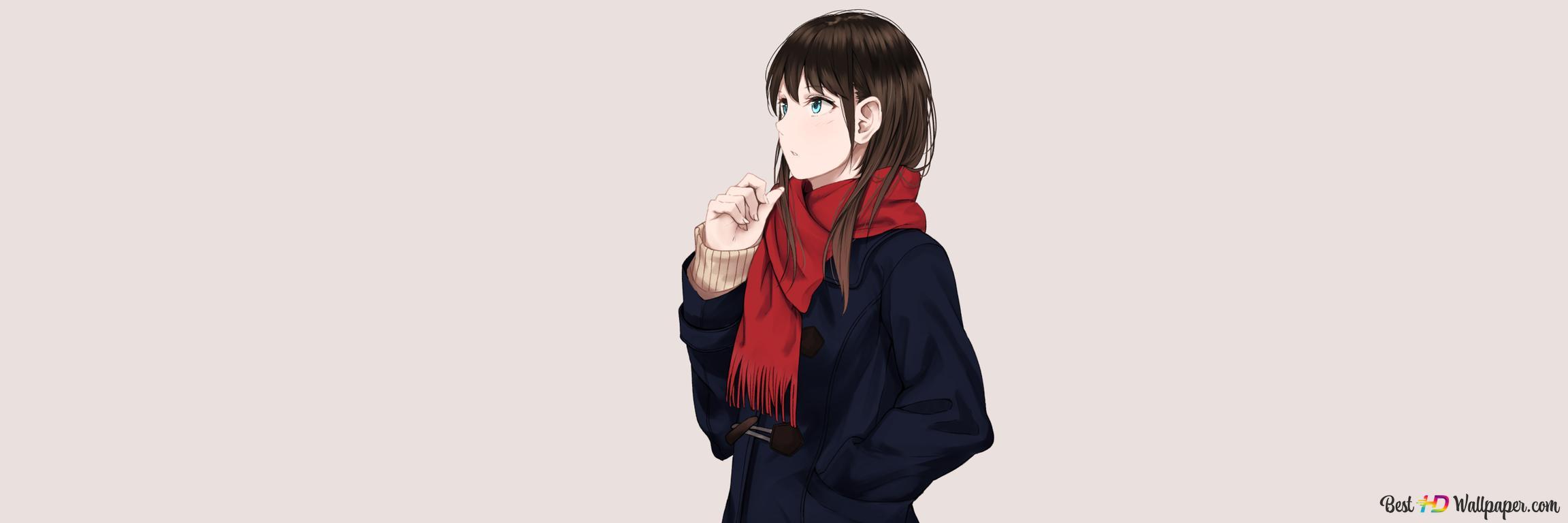 Black Hair Blue Eyes Anime Girl Hd Wallpaper Download