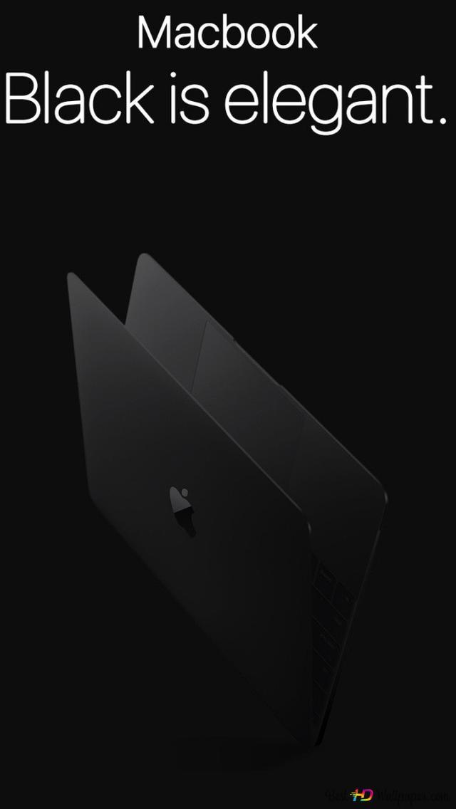 Black Macbook Hd Wallpaper Download