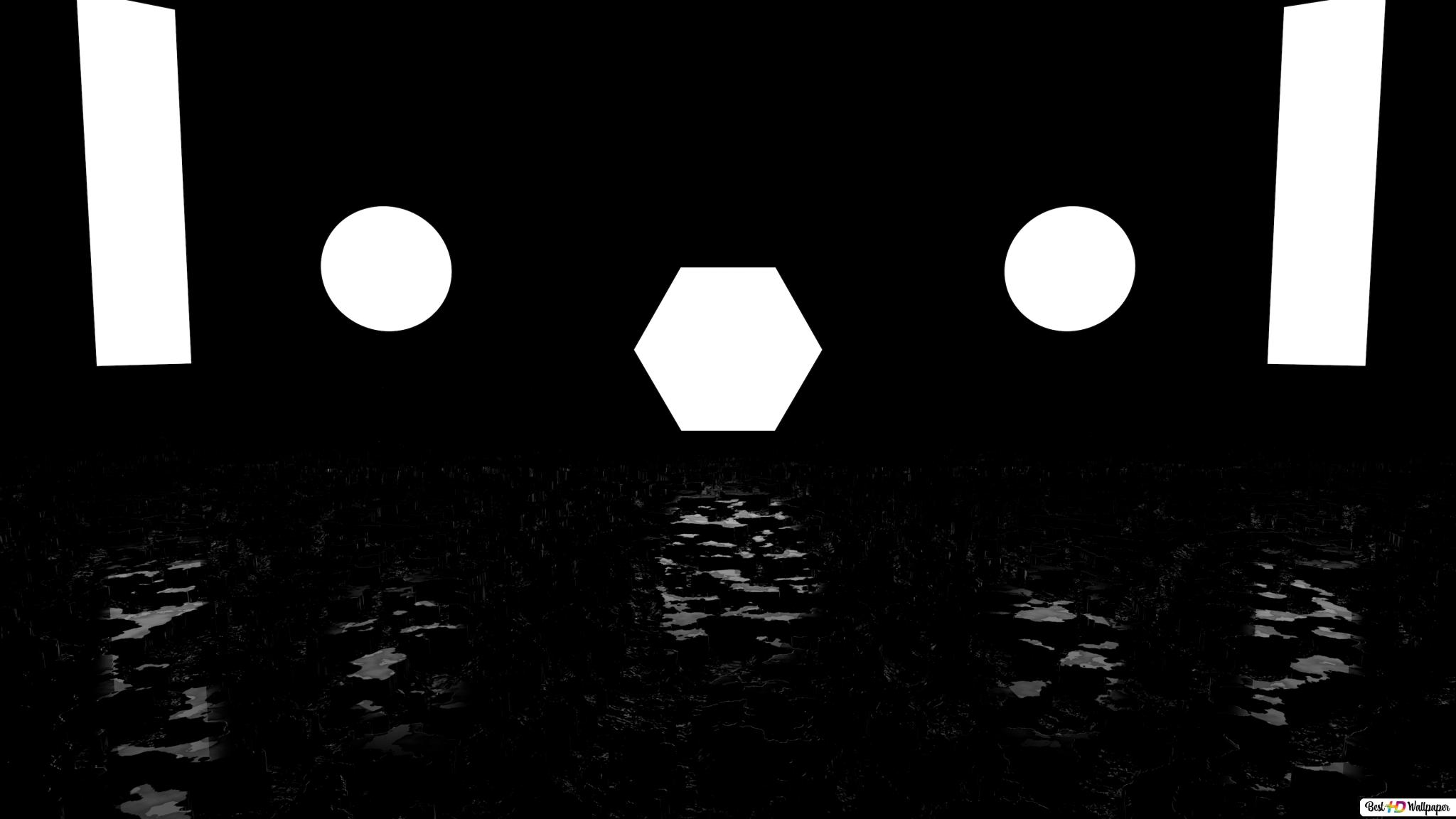 Black Or White Of Shapes Hd Wallpaper Download
