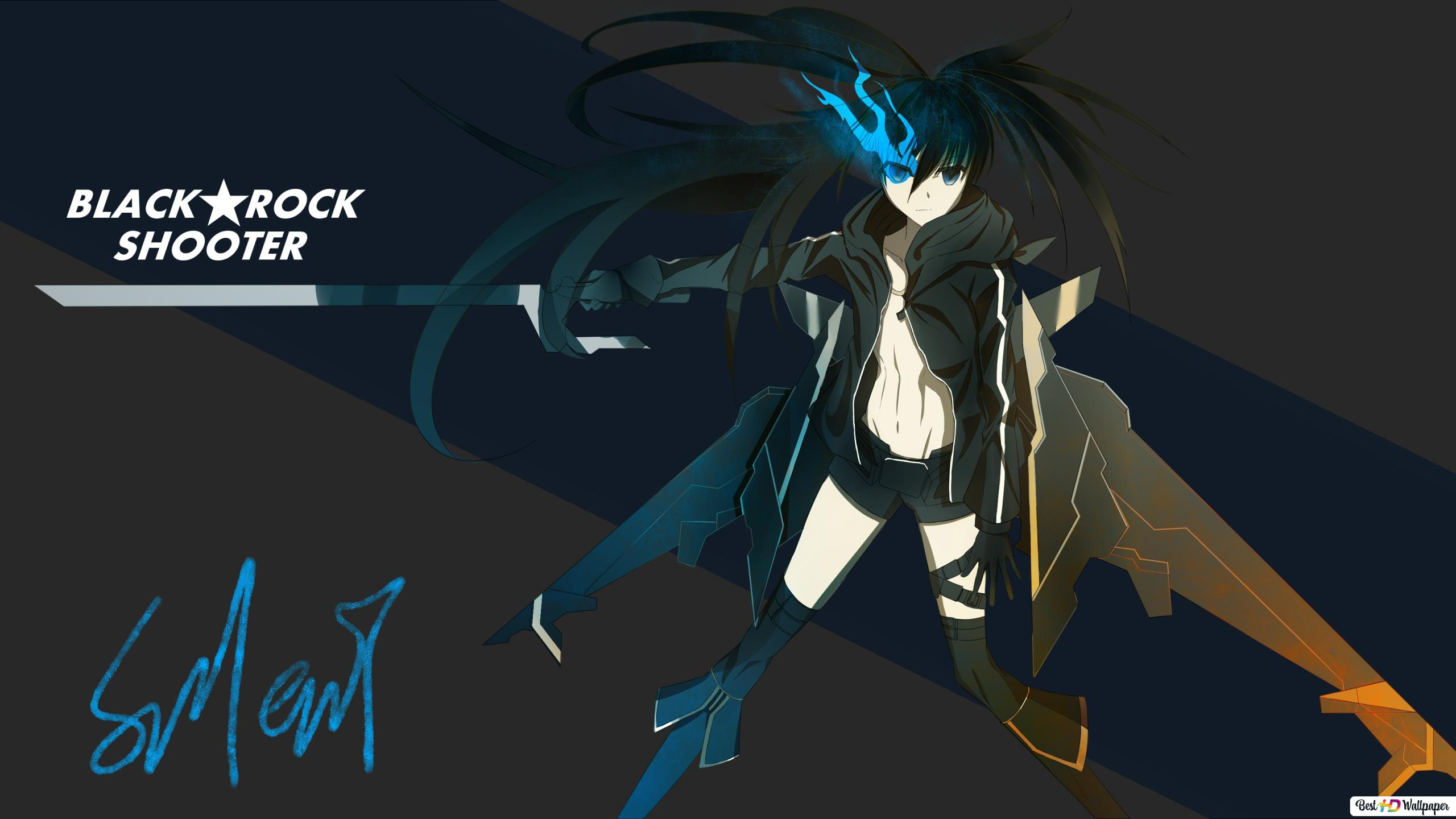 Black Rock Shooter Mato Kuroi Hd Wallpaper Download
