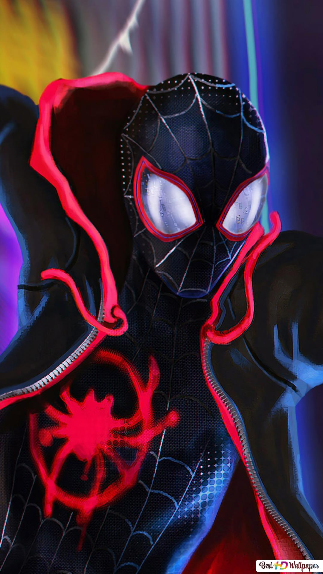 Black Spider Man Into The Spider Verse Hd Wallpaper Download