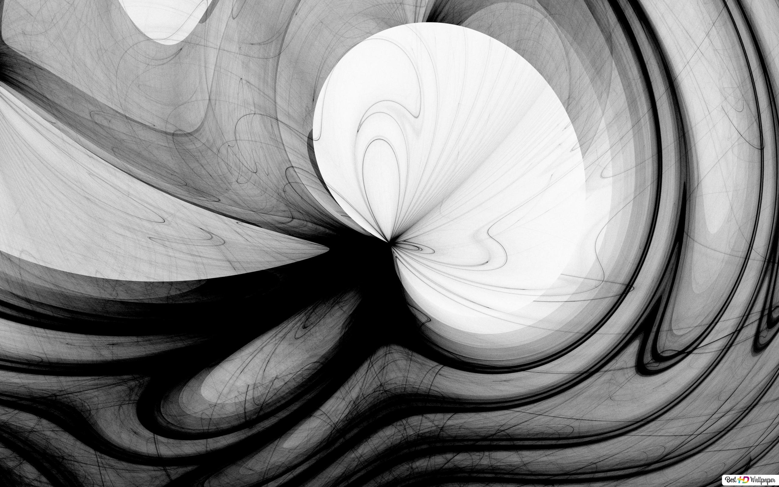 Black White Mixed Up Hd Wallpaper Download