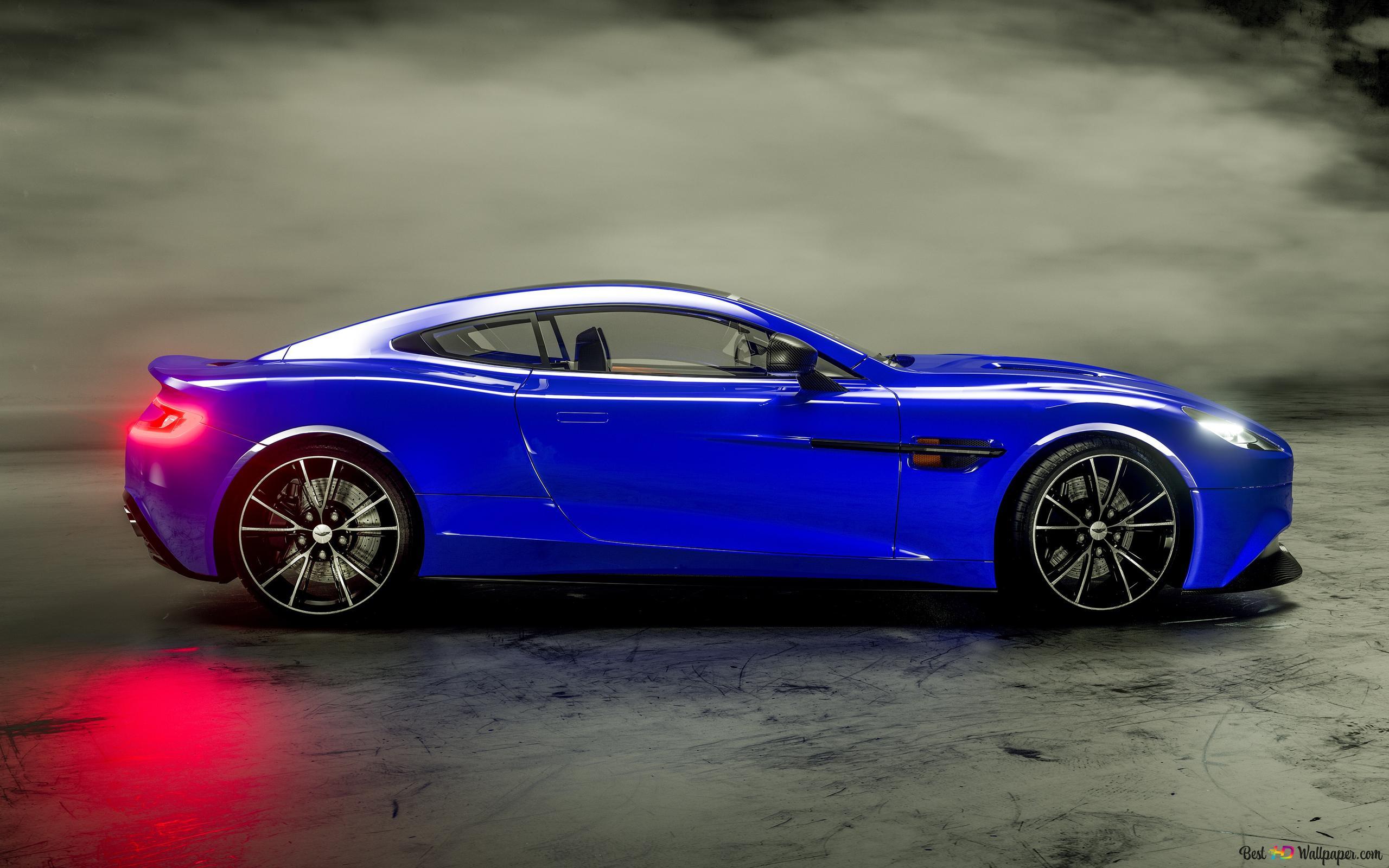 Blue Aston Martin Vanquish Hd Wallpaper Download