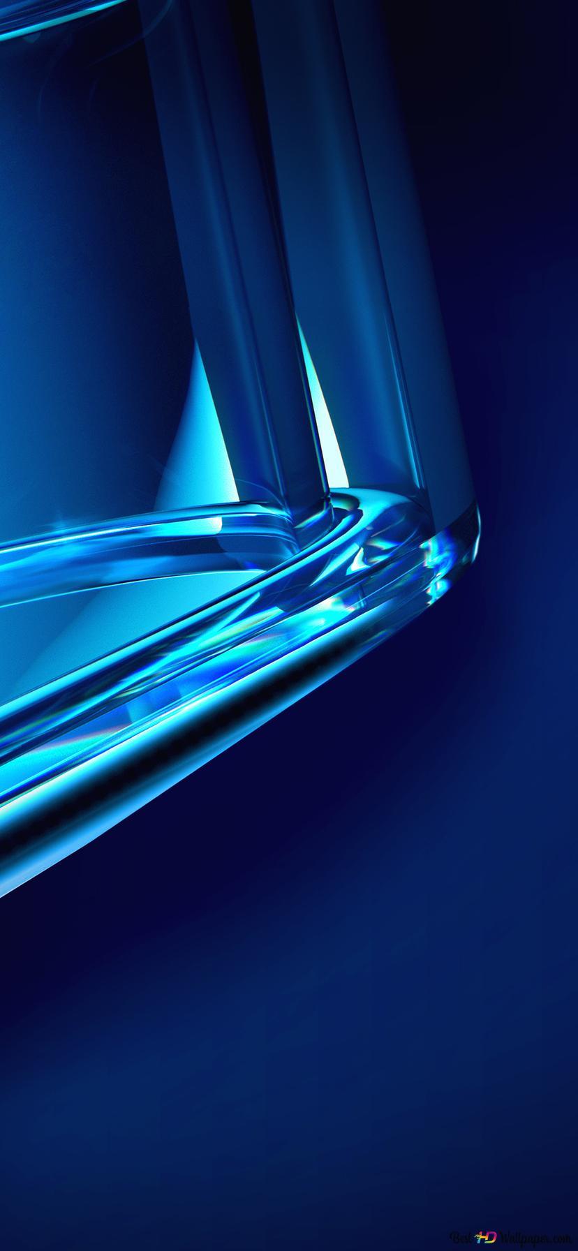 Blue Glass Edge Hd Wallpaper Download