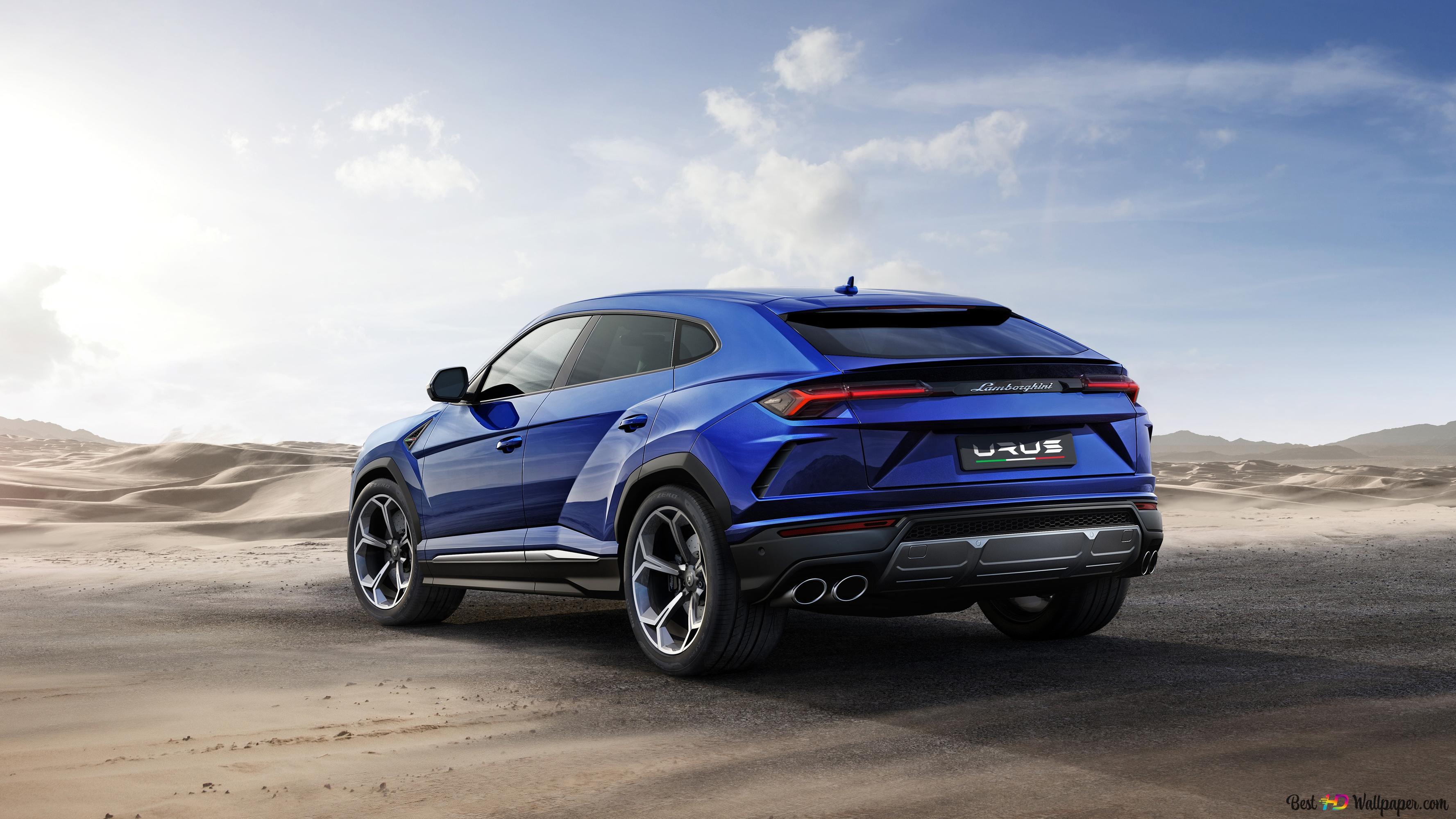 Blue Lamborghini Urus Hd Wallpaper Download