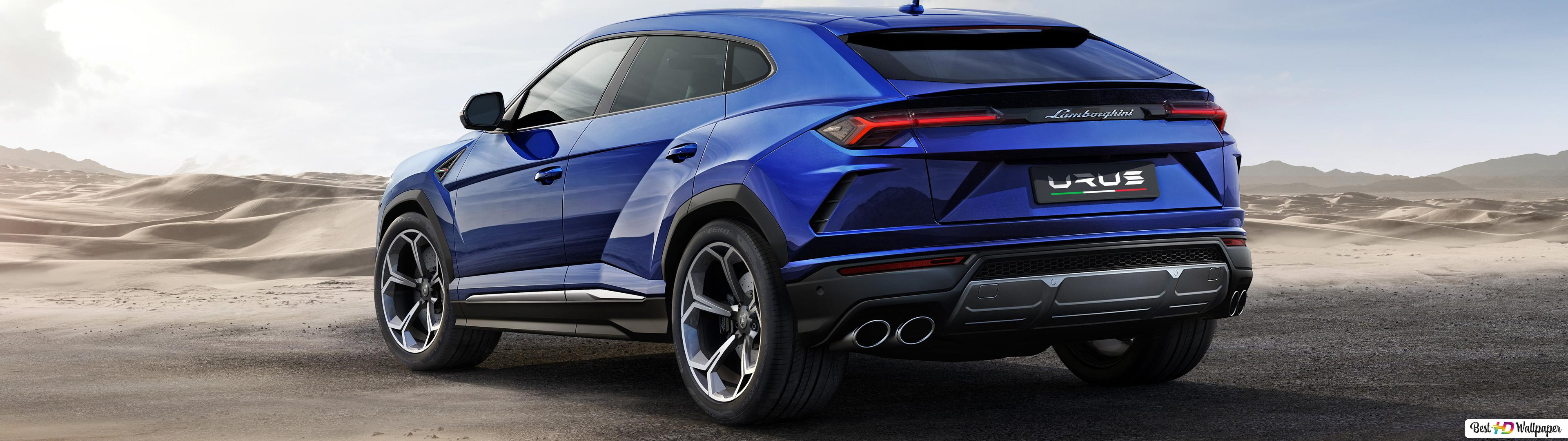 Blue Lamborghini Urus Hd Wallpaper Download