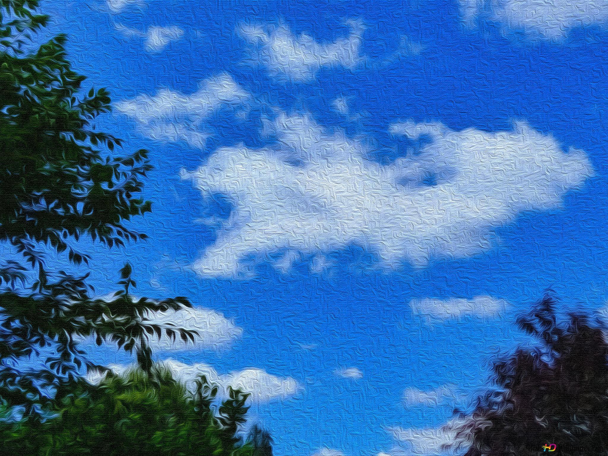 Blue Sky Canvas Hd Wallpaper Download