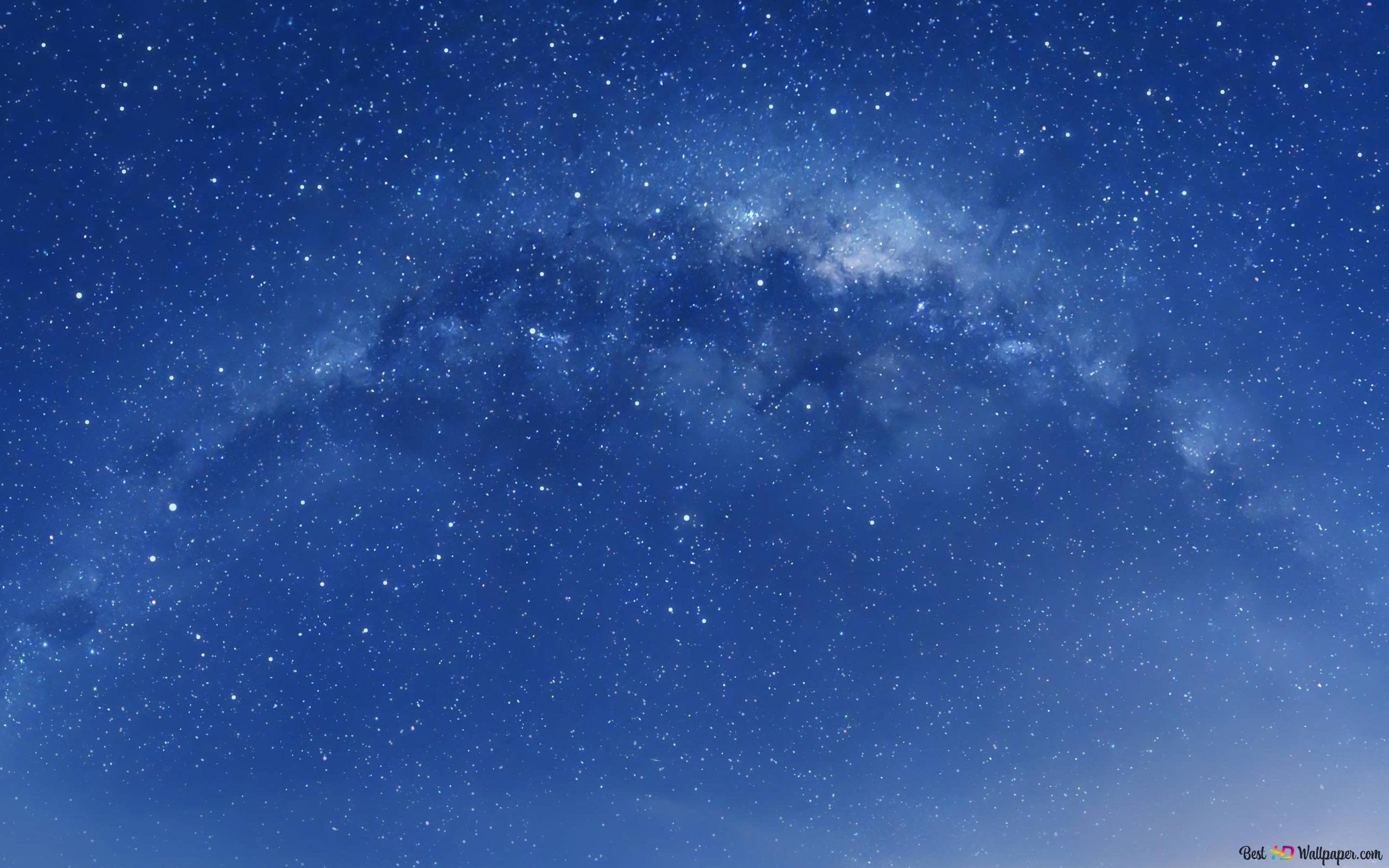 Blue Sky Galaxy Hd Fond D Ecran Telecharger