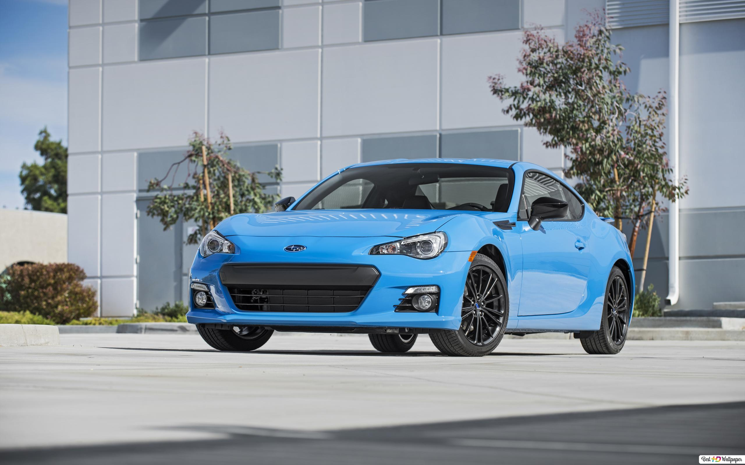 Blue Subaru Brz Sport Car Hd Wallpaper Download