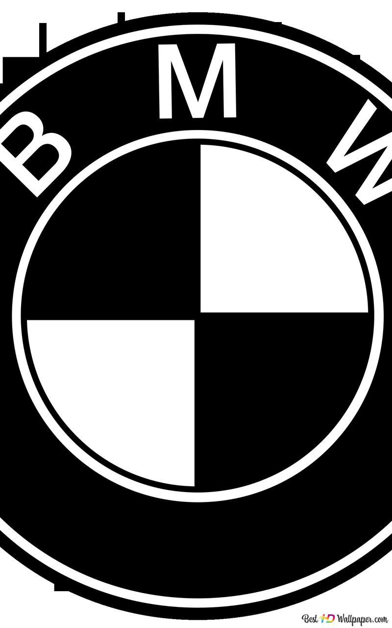 Bmw Logo Black White Hd Wallpaper Download