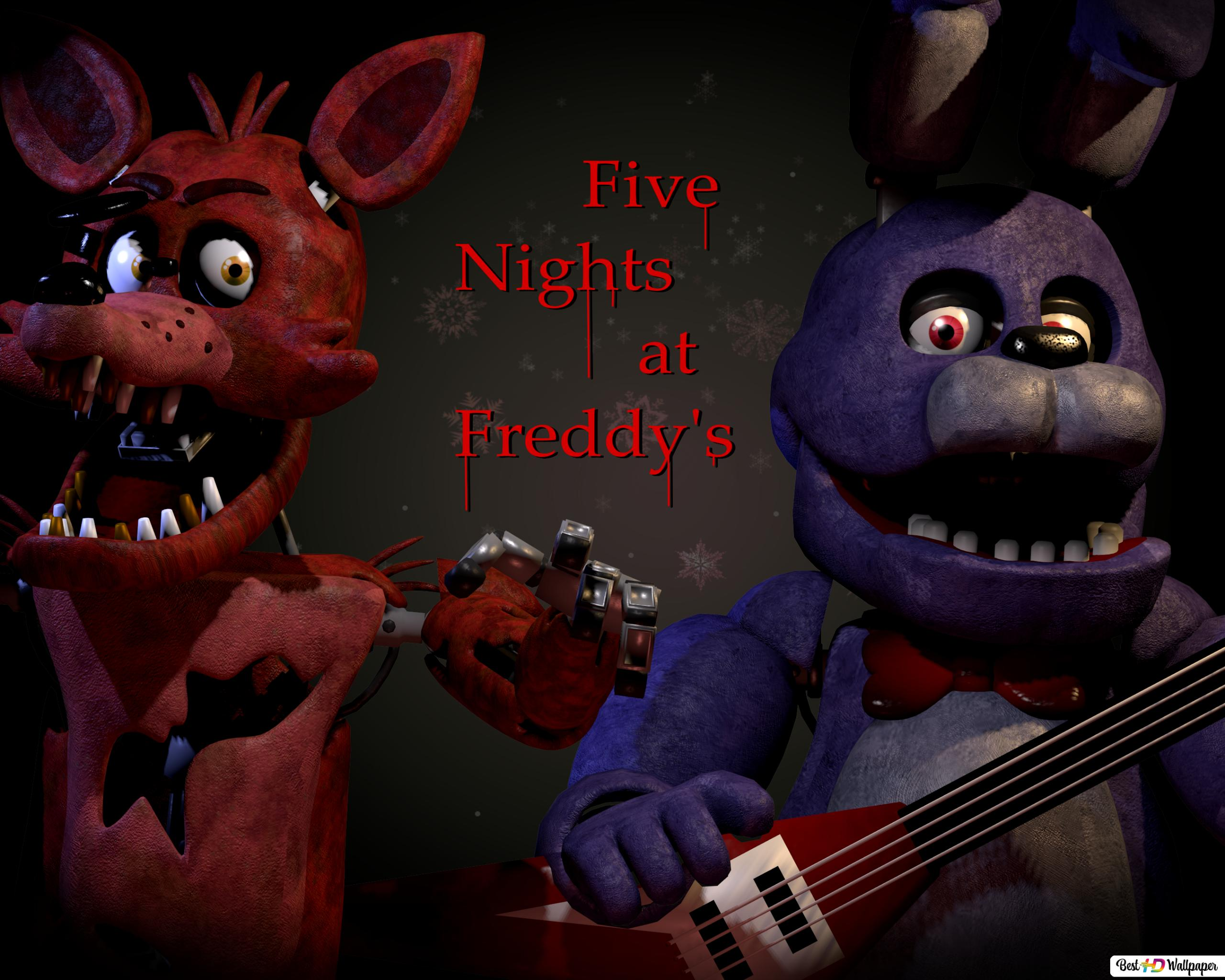 Bonnie And Foxy Of Five Nights At Freddy S Hd Wallpaper Download