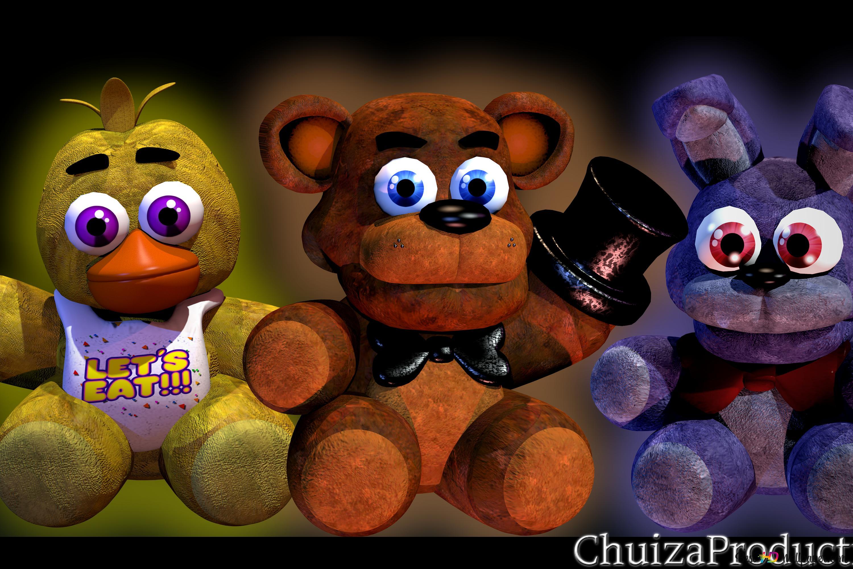 Bonnie Chica And Freddy Fazbear Stuffed Toy Hd Wallpaper Download